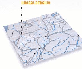 3d view of Vidigal de Baixo