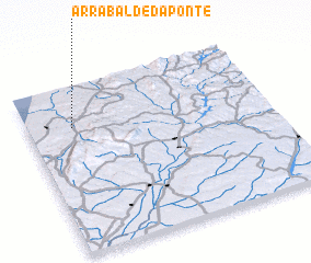 3d view of Arrabalde da Ponte