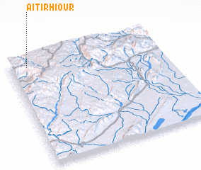 3d view of Aït Irhiour