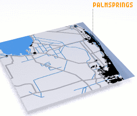 3d view of Palm Springs