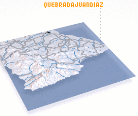 3d view of Quebrada Juan Díaz
