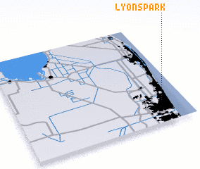 3d view of Lyons Park