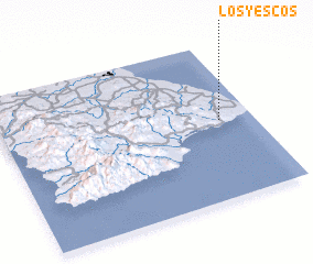 3d view of Los Yescos