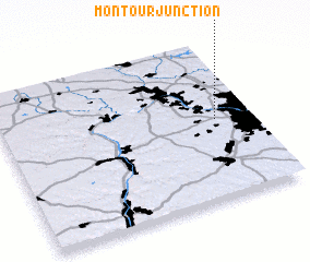 3d view of Montour Junction