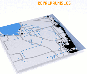 3d view of Royal Palm Isles