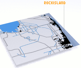 3d view of Rock Island