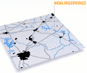 3d view of Healing Springs