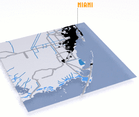 3d view of Miami