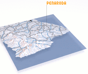 3d view of Peña Roda
