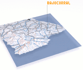 3d view of Bajo Corral