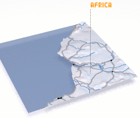 3d view of África
