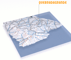 3d view of Quebrada Grande