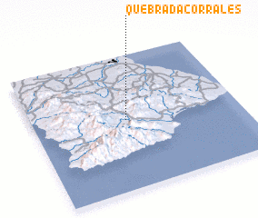 3d view of Quebrada Corrales