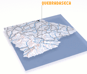 3d view of Quebrada Seca