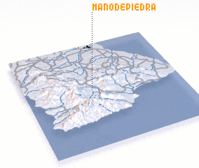 3d view of Mano de Piedra