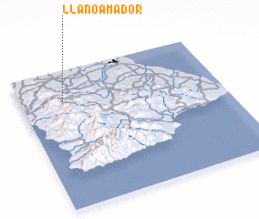 3d view of Llano Amador