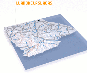 3d view of Llano de Las Vacas