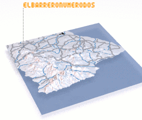 3d view of El Barrero Número Dos