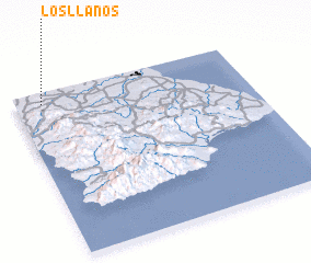 3d view of Los Llanos