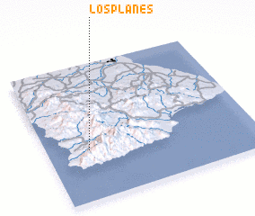 3d view of Los Planes