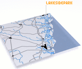 3d view of Lakeside Park