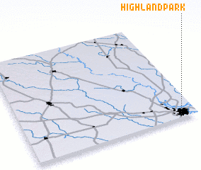 3d view of Highland Park