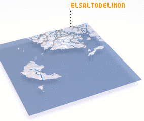 3d view of El Salto de Limón