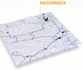 3d view of Packs Branch