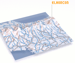 3d view of El Horcón