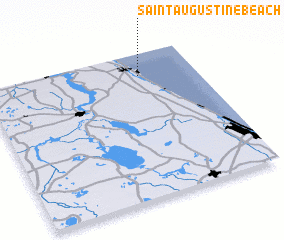 3d view of Saint Augustine Beach