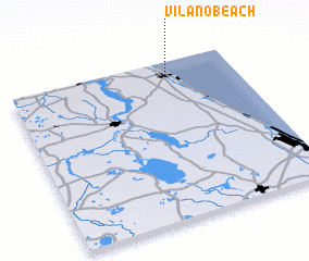 3d view of Vilano Beach