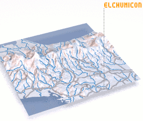 3d view of El Chumicón