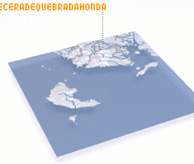 3d view of Cabecera de Quebrada Honda