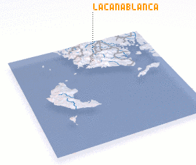 3d view of La Caña Blanca