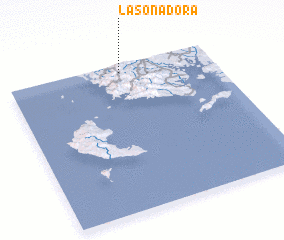 3d view of La Sonadora