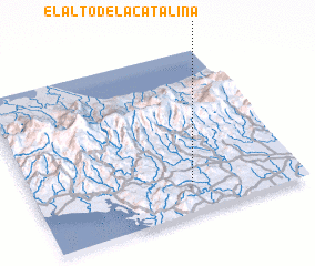 3d view of El Alto de la Catalina