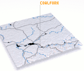 3d view of Coal Fork