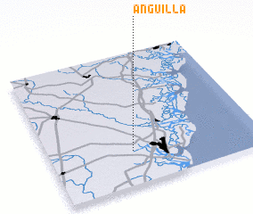 3d view of Anguilla