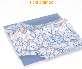 3d view of Las Lagunas