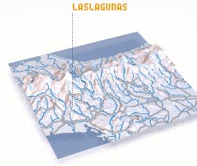 3d view of Las Lagunas