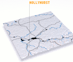 3d view of Hollyhurst