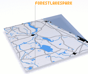 3d view of Forest Lakes Park