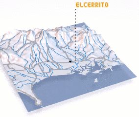 3d view of El Cerrito