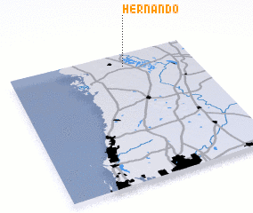 3d view of Hernando