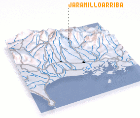 3d view of Jaramillo Arriba