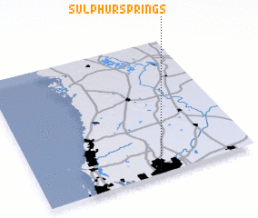 3d view of Sulphur Springs