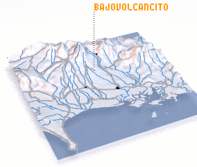 3d view of Bajo Volcancito