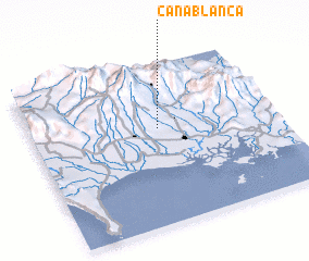 3d view of Caña Blanca