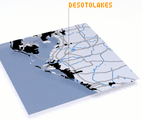 3d view of Desoto Lakes