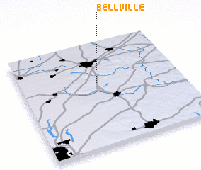 Bellville United States USA Map Nonanet - Belleville oh on us map